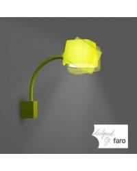 Aplique pared Acero FLEXI para Interior Verde E27