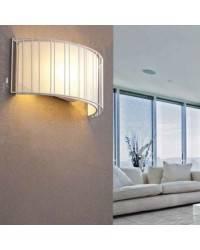 Aplique pared Acero-Textil LINDA para Interior Blanco 2L E27