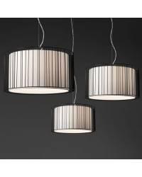 Lámpara colgante techo Acero-Textil LINDA para Interior Negro 1L E27