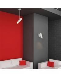Lámpara pie de salón de Acero LINK para Interior Blanco 1L GU10