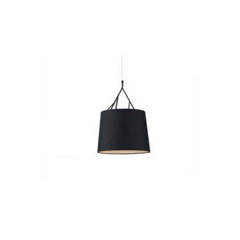 Lámpara colgante de techo de Metal TREE para Interior Negro 1L E27