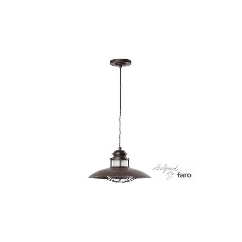 Lámpara colgante de techo de Metal-Cistal WINCH para Interior Marrón E27
