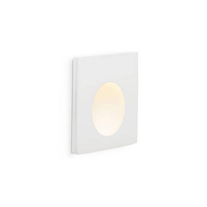 Downlight empotrable Yeso y Aluminio PLAS-1 para Interior Blanco LED