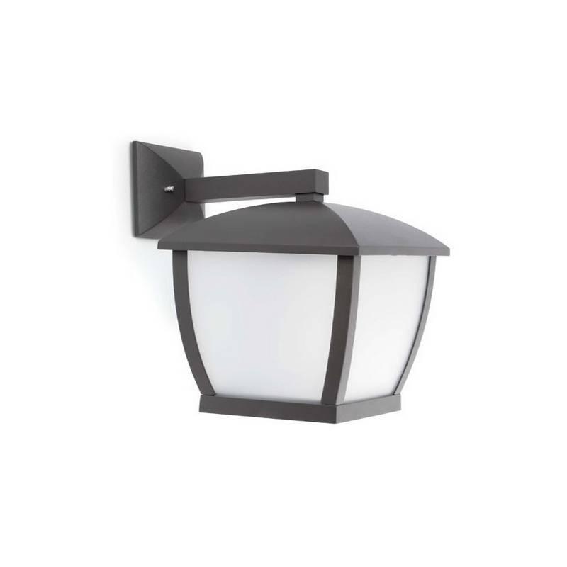 Aplique de aluminio  WILMA Exterior color Gris oscuro E27