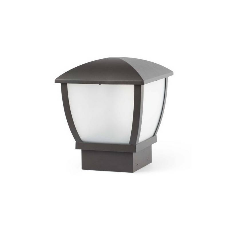 Sobremuro de aluminio  WILMA Exterior color Gris oscuro E27
