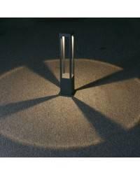 Baliza de Aluminio Inyectado AGRA para Exterior color Marrón öxido LED