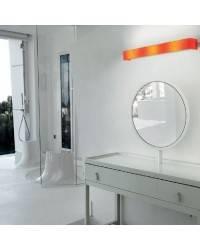 Aplique de acero BOREAL Naranja ambiente halógeno de pared
