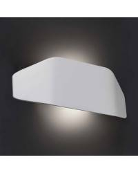 Aplique de pared de policarbonato FUTURE  Exterior Blanco Mate E27