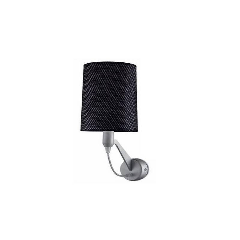 Aplique de aluminio EVE Niquel Mate ambiente bajo consumo de pared