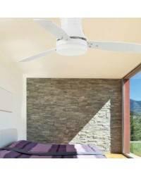Ventilador de techo con luz TONSAY Blanco
