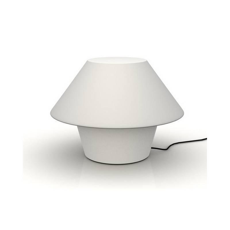 Lámpara Sobremesa VERSUS para exterior en polietileno color blanco