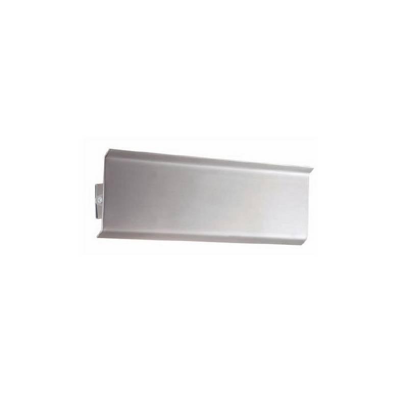 Aplique de acero AURIGA Niquel Mate ambiente halógeno de pared