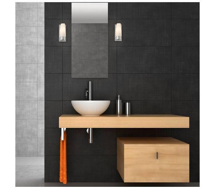 Distribuidores mayoristas de iluminaci n aplique de acero doka 1 interior ba o cromo - Aplique para bano ...