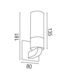 Aplique de Aluminio LAOS-1 Interior/Baño Cromo
