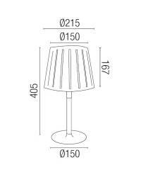 Lámpara de Sobremesa de Madera MIX Interior Negro