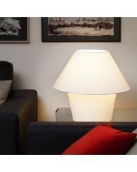 Lámpara de Sobremesa Téxtil VERSUS-P Interior Blanco