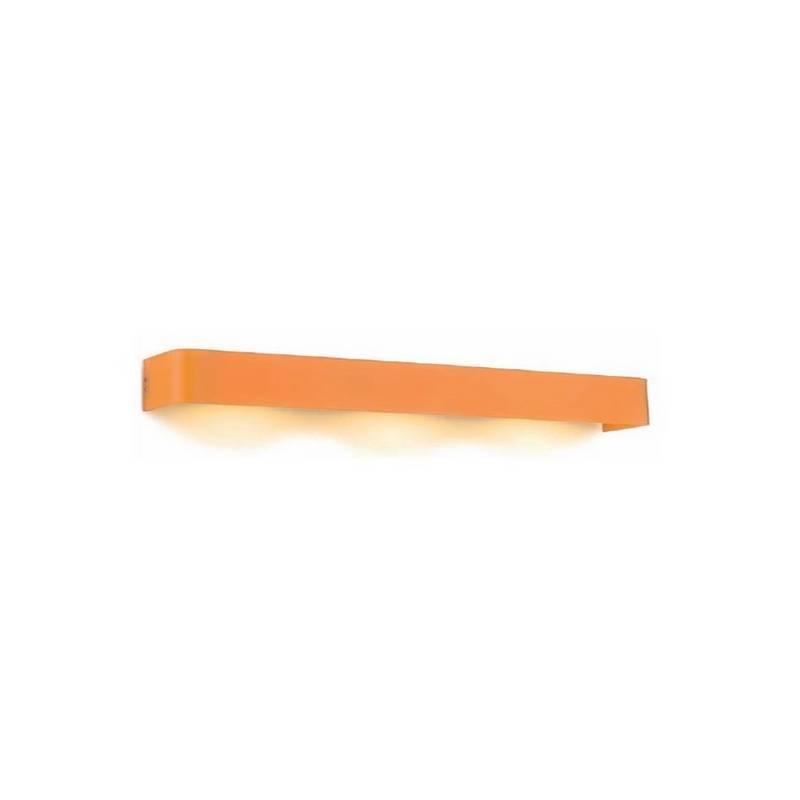Aplique de Acero BOREAL Naranja ambiente fluorescente de pared