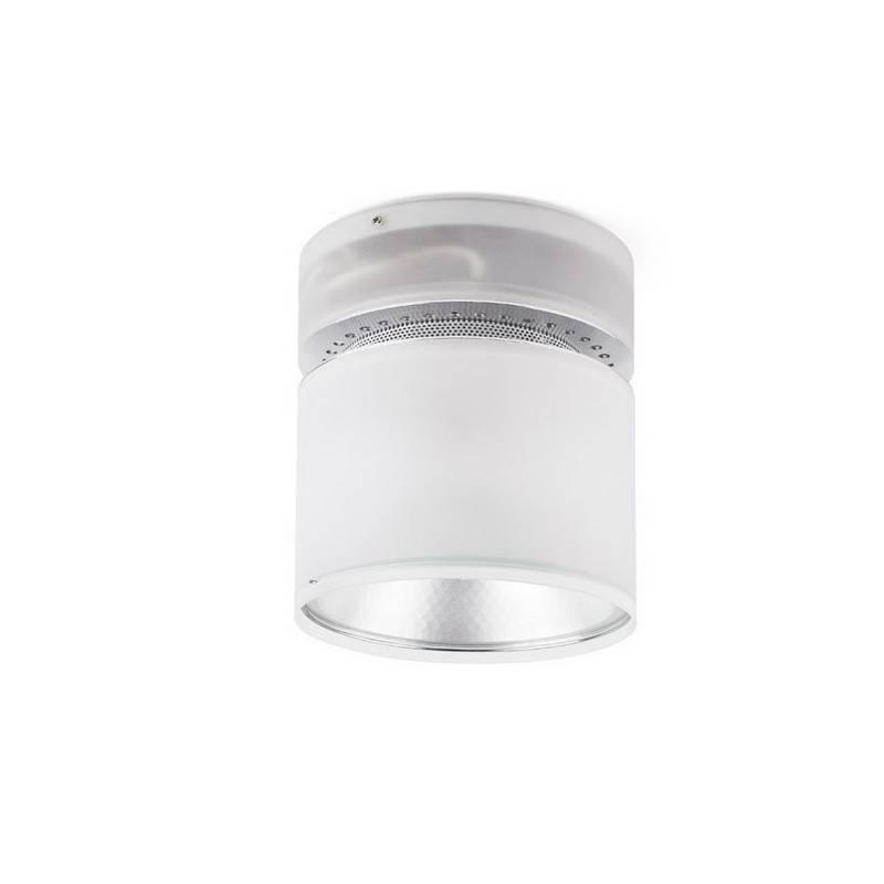 Plafón de Aluminio/Cristal translúcido LICHI Interior Blanco