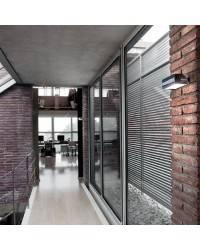 Aplique de fundición aluminio ESQUELLOT Plata ambiente halógeno de pared