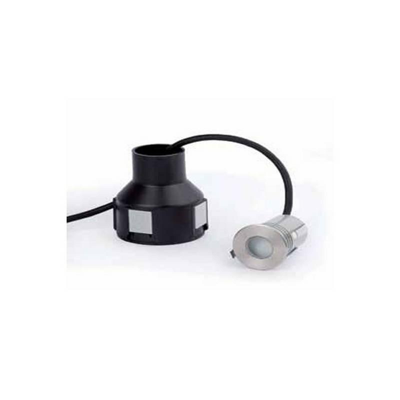 Aplique de Acero inoxidable 304 para empotrar exterior CROSBY Luz Cálida Niquel Mate High Power LED