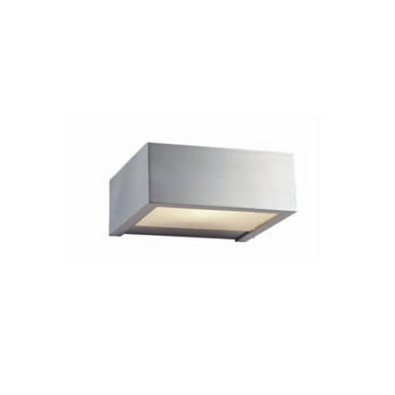 Aplique de latón APOLO Plata ambiente halógeno de pared