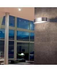 Aplique de latón GARBI Plata ambiente halógeno de pared