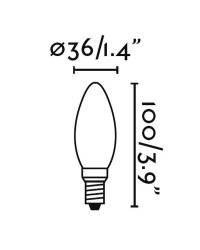 Bombilla LED E27 Pebetero Filamento 4W 350Lm Ambar