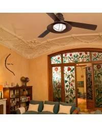Ventiladores de techo Faro WINCH marrón oscuro