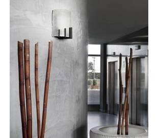 Aplique de acero MANS Marrón Óxido ambiente bajo consumo de pared