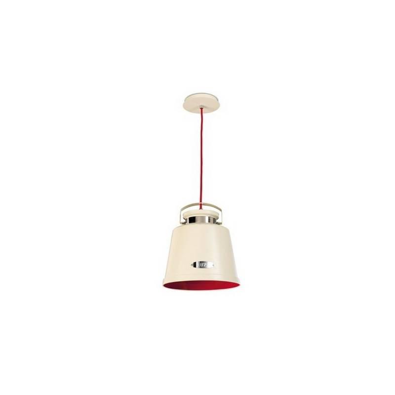 Lámpara Colgante VINTAGE Blanco Antiguo/Rojo
