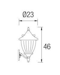 Apliques para Exterior GALATEA-P Marrón Óxido