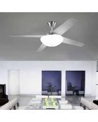 Ventilador de techo con Luz AUKENA Niquel Satinado